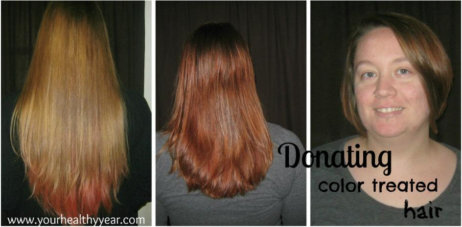 donating color treated hair