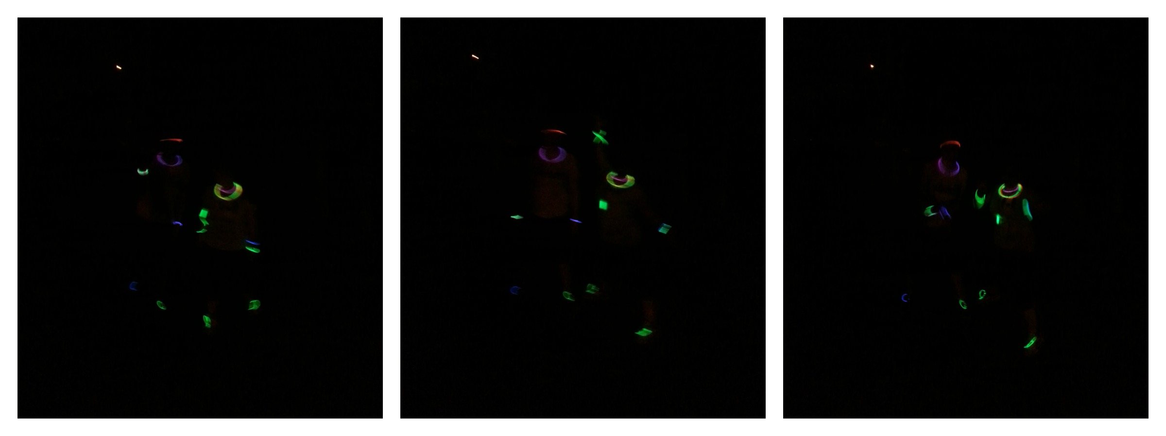 glowstick dance party rave