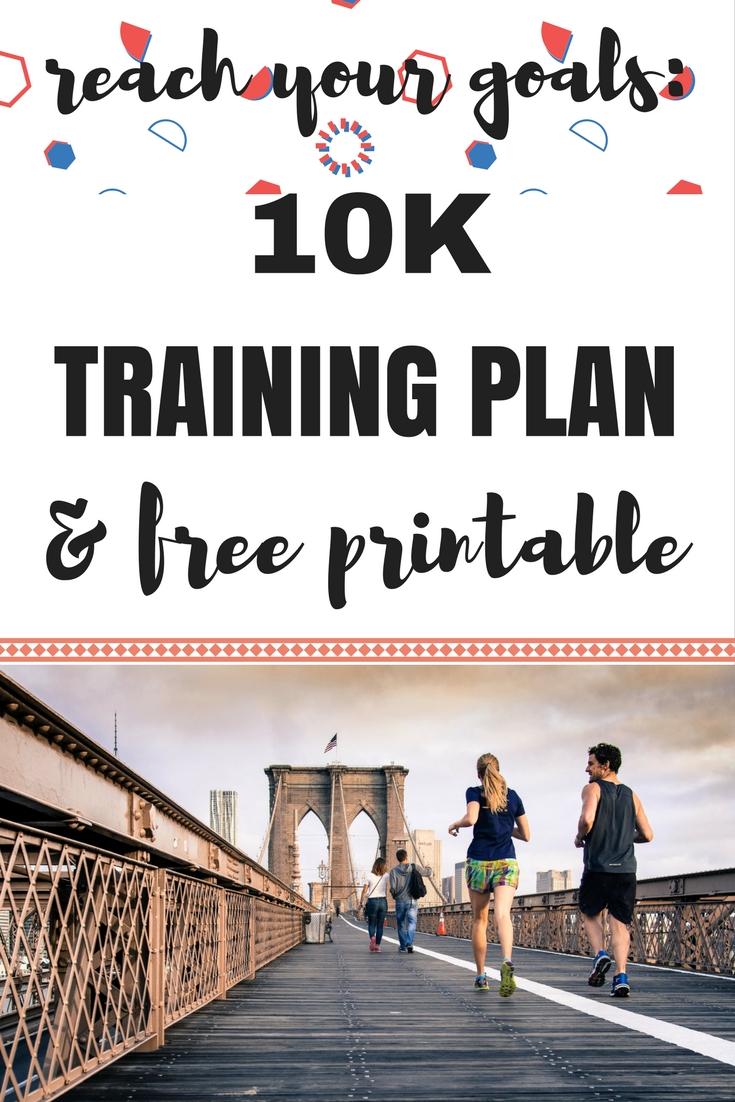 10k Training Plan Free Printable!