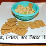 Cheese, Chives, and Bacon Hummus