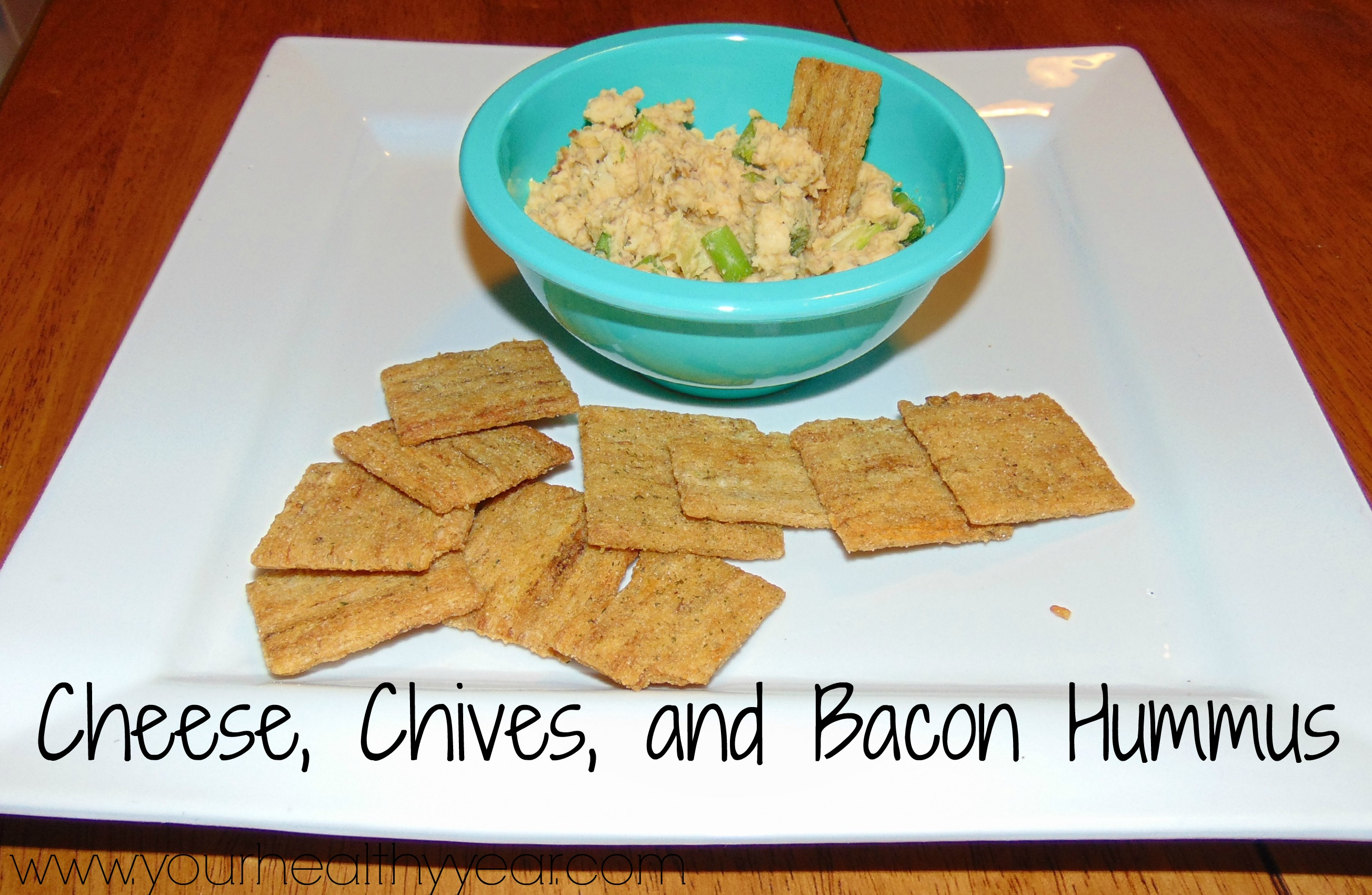 cheese chives bacon hummus