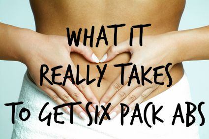 WHAT IT REALLY TAKES TO GET SIX PACK ABS