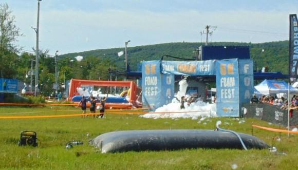 Foamfest finish line