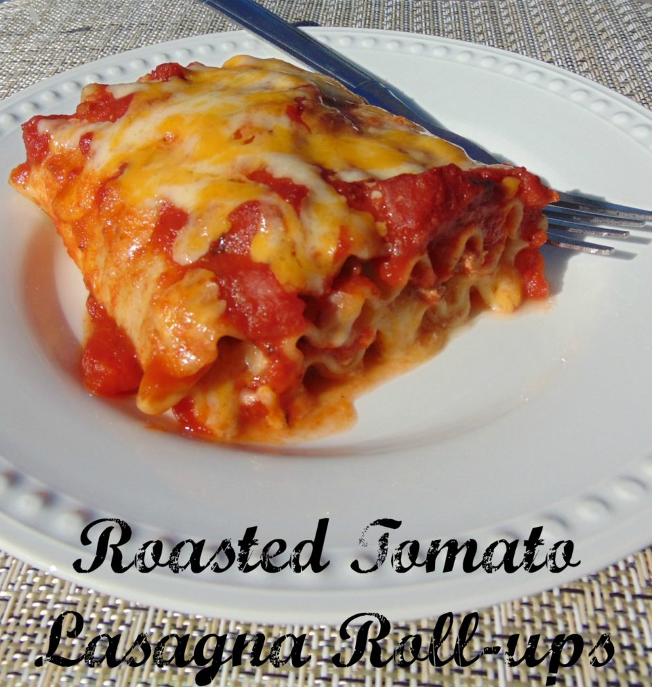 Roasted Tomato Lasagna Roll-ups