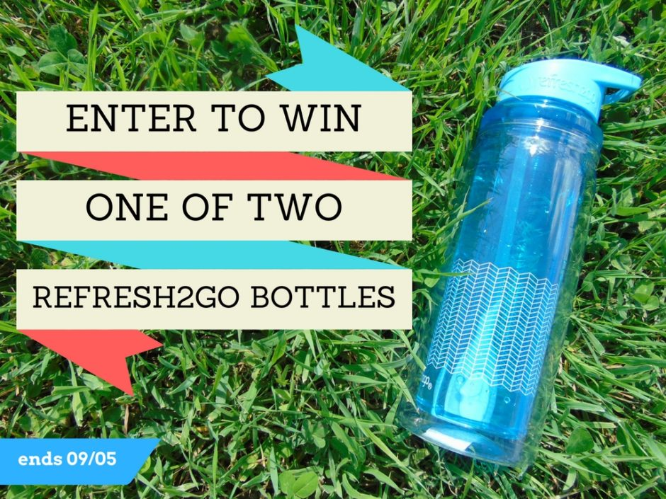 refresh2go giveaway! Enter to win 1 of 2 bottles! Ends Sept. 5th.