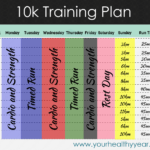 10k Training Plan Free Printable