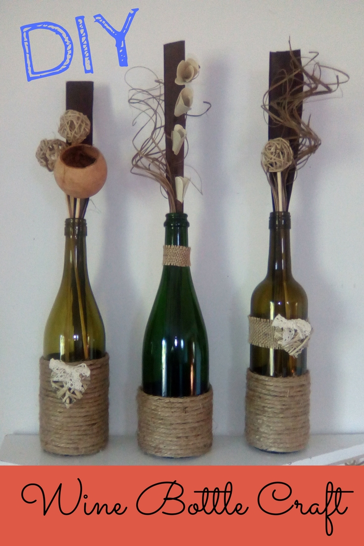 Check out this super easy DIY Wine Bottle Twine Craft!