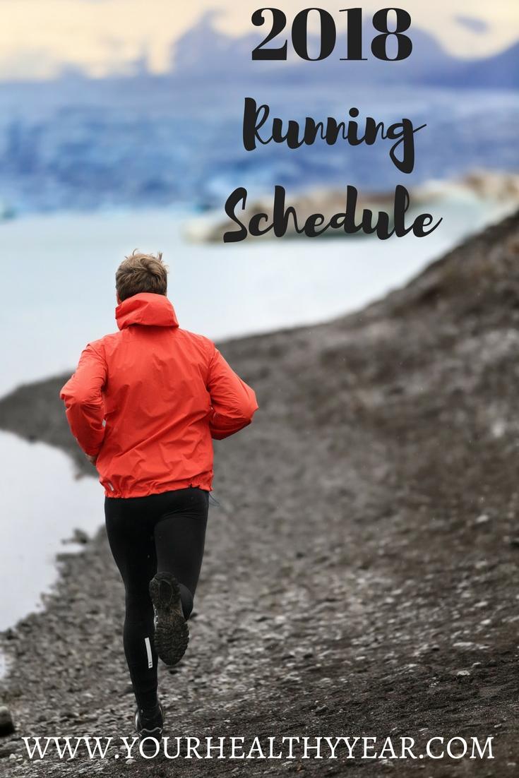 2018 Running Schedule