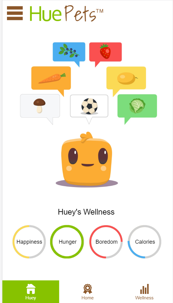 Encourage healthier food choices with Huetracker.